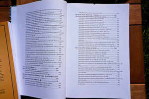 Table of contents of the book Creed of the Righteous Predecessors