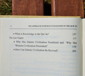 Table of contents of the book The Approach to Human Civilization in the Qur'an