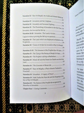 Table of contents of the book The Forgotten Haram - 40 Narrations Concerning Jerusalem
