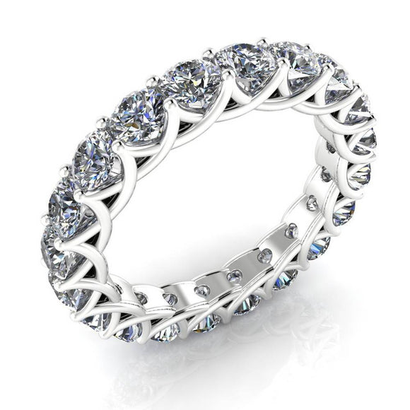 18K white gold Diamond Trellis Eternity Band Ring