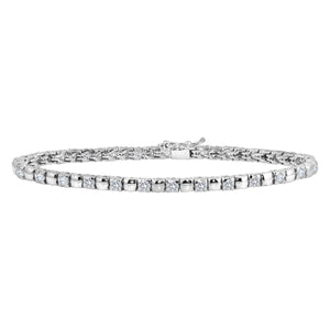 "Womens 18K White Gold Diamond  2.16ct 7"" Tennis Bracelet"