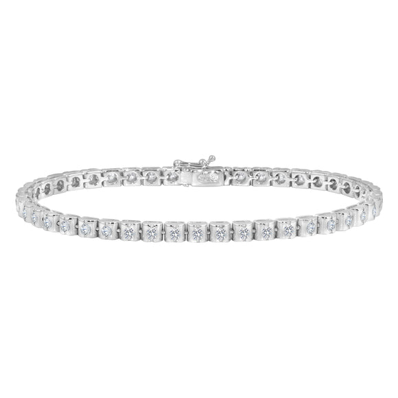 Womens 18K White Gold Diamond  1.96ct 7.5