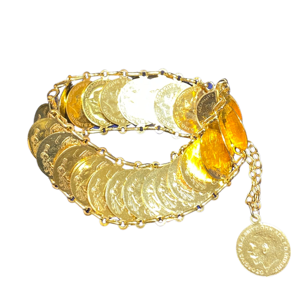 21K Solid Gold Women Bracelet