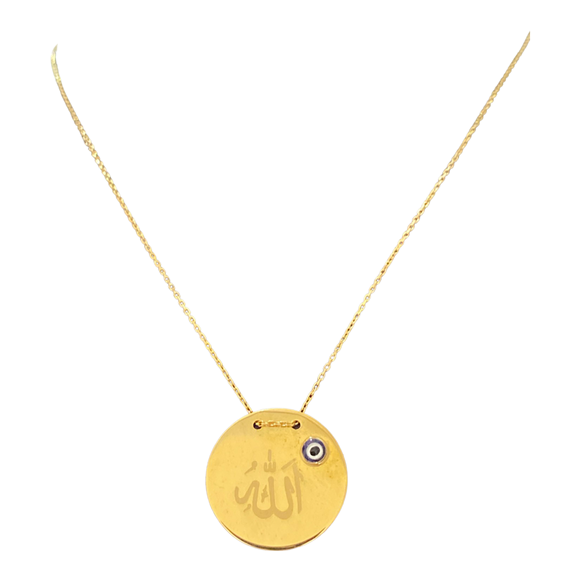 18K Yellow Gold Eye Necklace