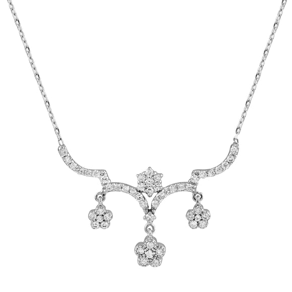 Diamond 18K White Gold  Chain Necklace