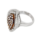 18K White Gold with Diamond Baguette Falamank Antique style  Ring