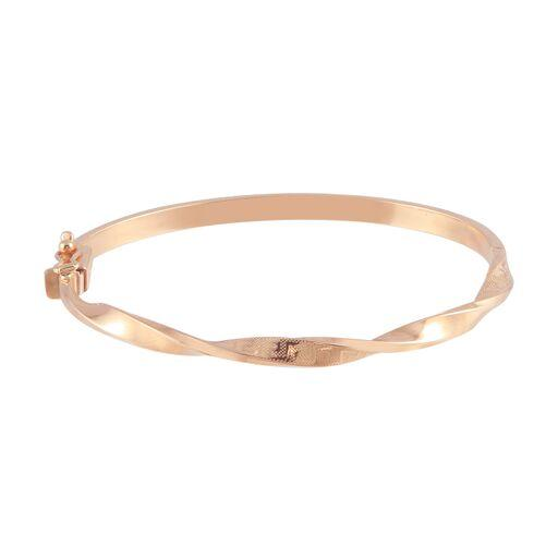 18K Rose Gold Twisted Bangle Bracelet