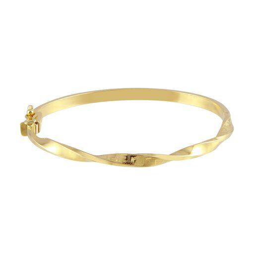 18K Yellow Gold Twisted Bangle Bracelet