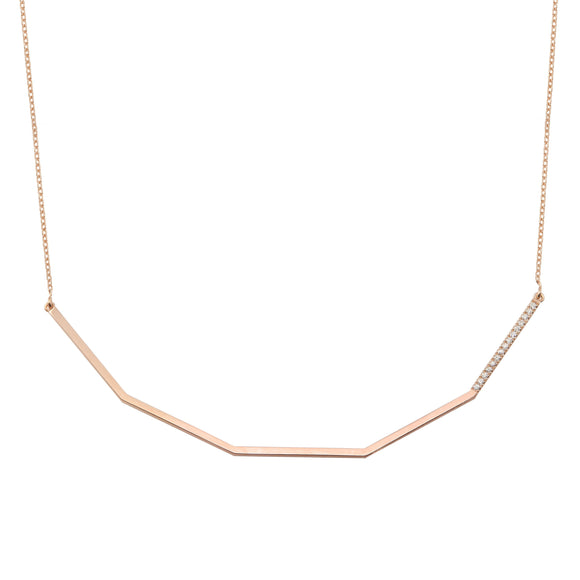 Diamond 18K Rose Gold Chain Necklace