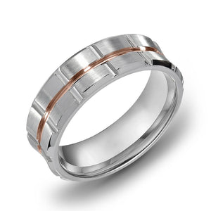 18k White Gold Satin Comfort fit 6mm Wedding Band Ring