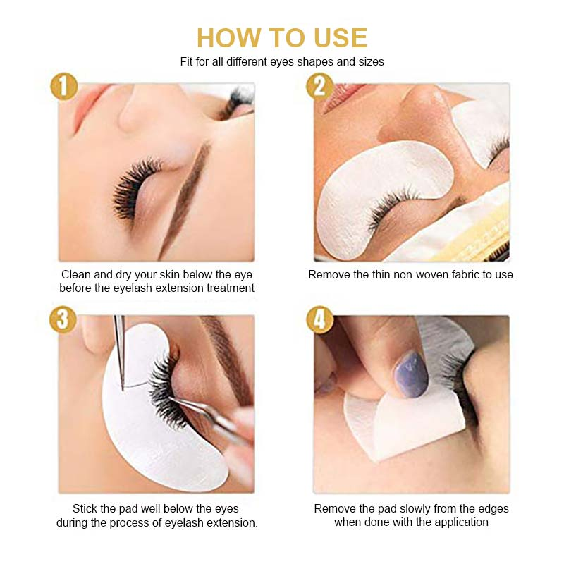 How to use eye pads for eyelash extensions