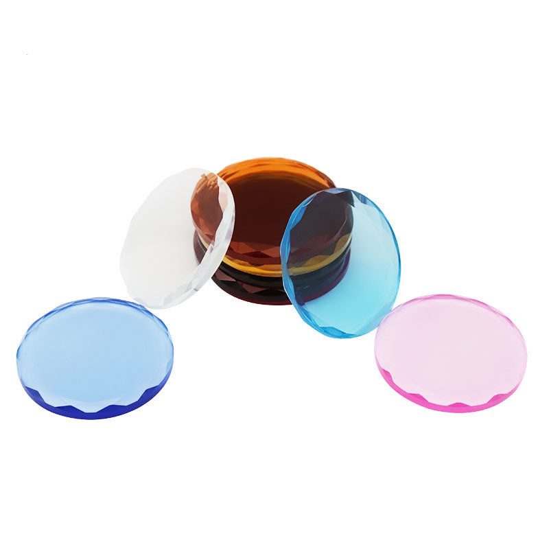 Crystal Glass Palette Glue Holders