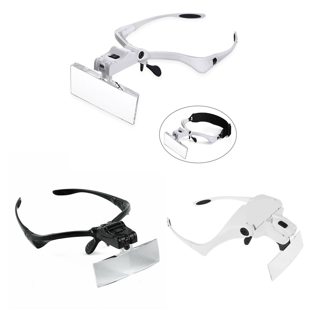 magnifying glasses with led lights and headband