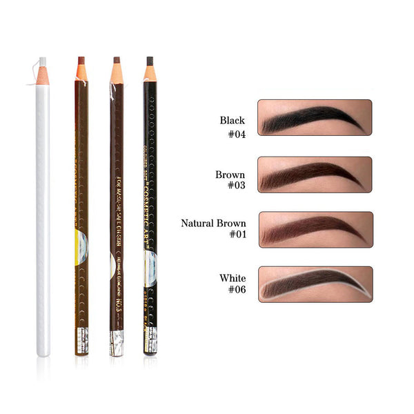 pull and tear eyebrow pencil colors black brown natural brown and white