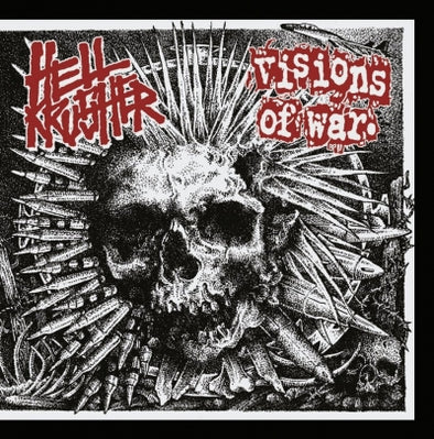 HELLKRUSHER / VISIONS OF WAR - Split 7""
