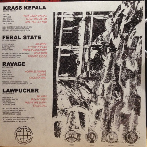 Lawfucker/ Krass Kepala / Ravage / Feral State INTERNATIONAL 4-WAY SPLIT 12 INCH