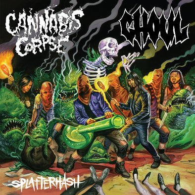 Cannabis Corpse / Ghoul - Splatterhash Split 12""