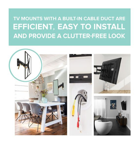 TV Wall Mounts with cable management System