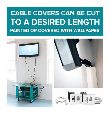 Covering cables using Wall Mounts and cable duct