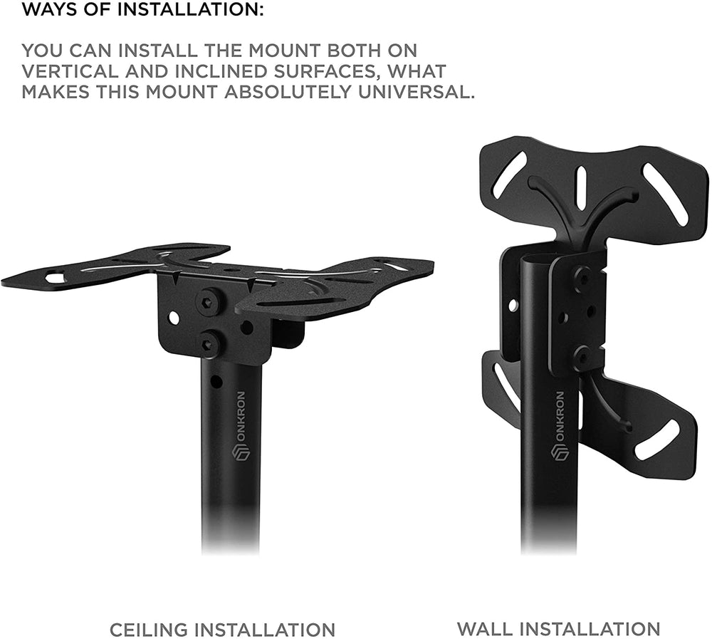 "ONKRON Ceiling TV Bracket Mount Tilt Swivel For Most 32""-70 inch TV LCD LED OLED N1L"