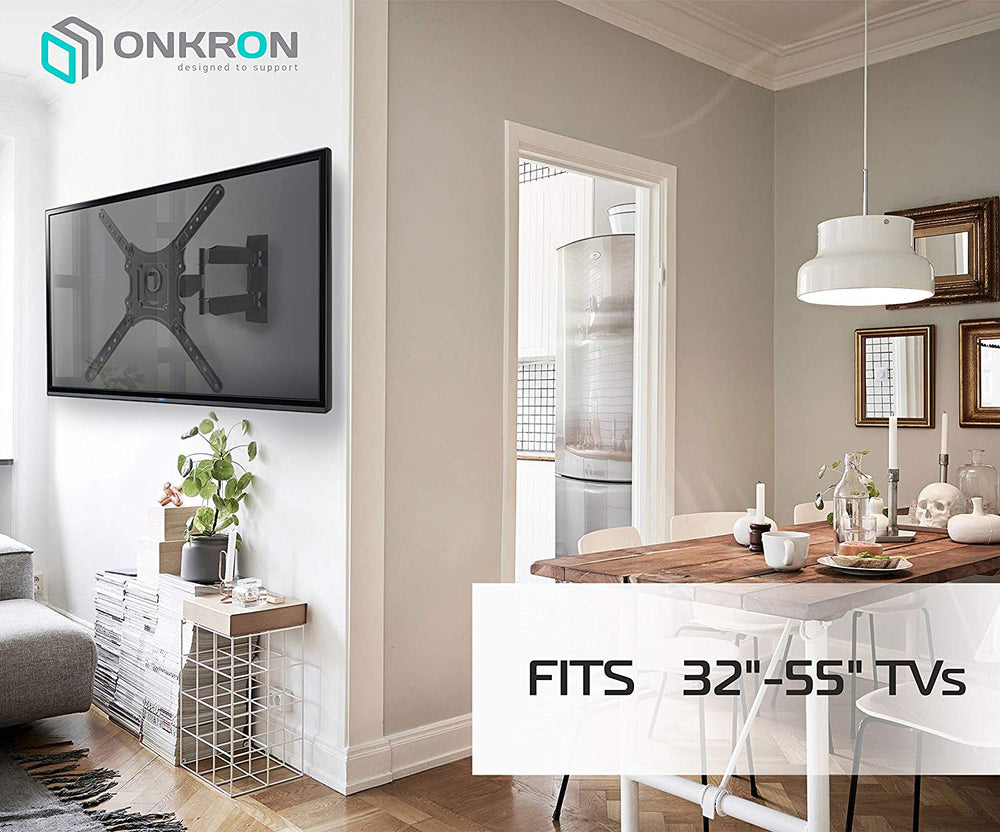 "Onkron TV Wall Mount for Flat Panel TV Screens 32""-55"" up to 77 lbs"