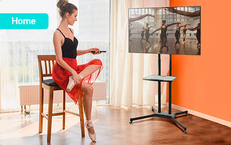 mobile tv stand ts1351 in office