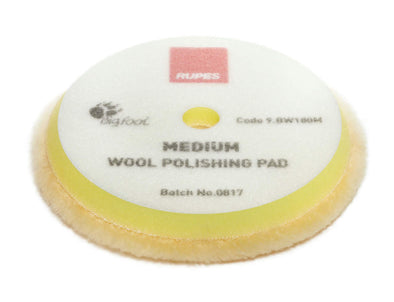 "RUPES Yellow Medium Wool Pad - 6"" - Detailing Connect"