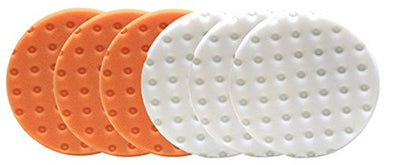 Lake Country CCS Smart Pads DA 5.5 inch Foam Pad (3-White, 3-Orange, 5.5) - Detailing Connect