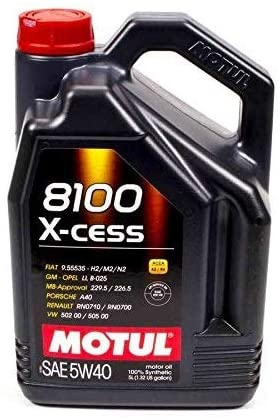 Motul 8100 X-cess 5W-40 Synthetic Gasoline and Diesel Engine Oil - 5 Liter - Detailing Connect