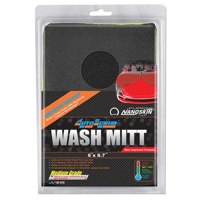 "NANOSKIN AUTOSCRUB Wash Mitt 6"" x 8.7"" Medium Grade - Detailing Connect"
