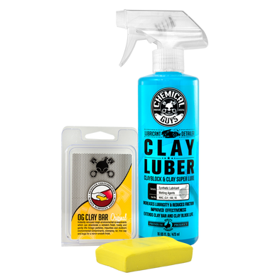 Chemical Guys OG Clay Bar & Luber Synthetic Lubricant Kit, Light/Medium Duty - Detailing Connect