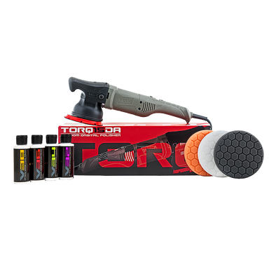 TORQ TORQ15DA 15mm Long-Throw Random Orbital Polisher Kit (8 Items) - Detailing Connect