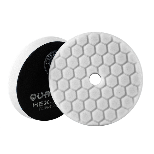 White Hex-Logic Quantum Light-Medium Polishing Pad 5.5'' - Detailing Connect