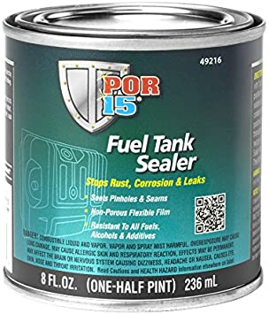POR-15 49216 Fuel Tank Sealer - 8 fl oz - Detailing Connect