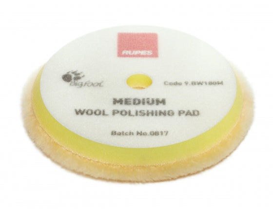 "Rupes Yellow Medium Wool Pad 7"" - Detailing Connect"