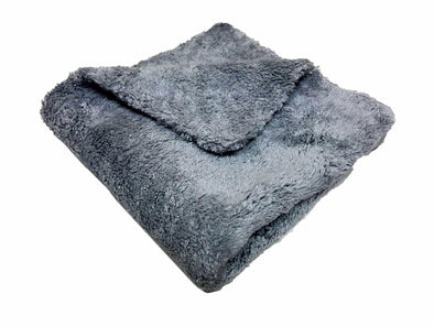 "Microfiber 16""x16"" Edgeless Plush Towel Gray - Detailing Connect"