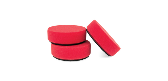 "3"" Red Foam Waxing Pads, Set of 3 - Detailing Connect"
