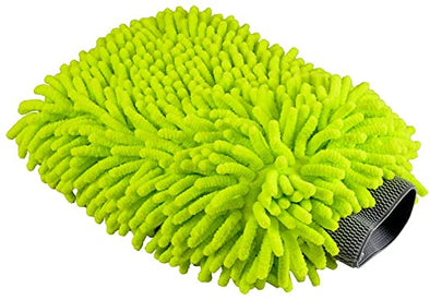 Green Chenille Microfiber Mitt - Detailing Connect
