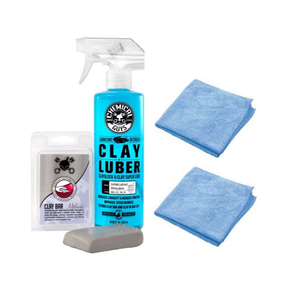 Chemical Guys Clay Bar & Luber Synthetic Lubricant Kit, Medium Duty - Detailing Connect