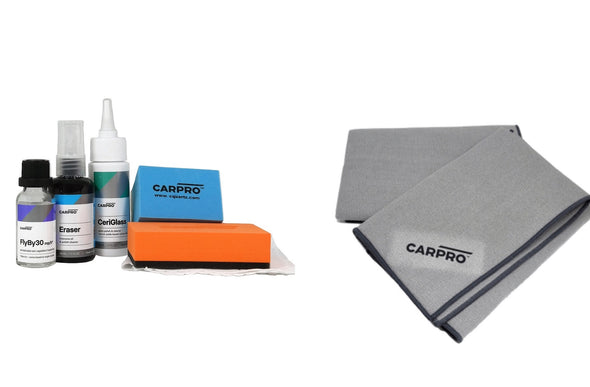 CarPro FlyBy30 Windshield Coating FULL KIT - 20ml & Glass Towel - Detailing Connect