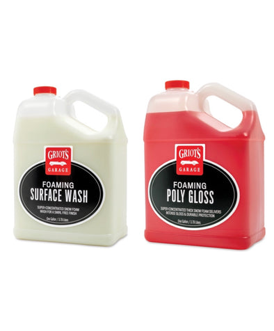Griot's Garage Foaming Surface Wash and Foaming Poly Gloss 128OZ Kit - Detailing Connect