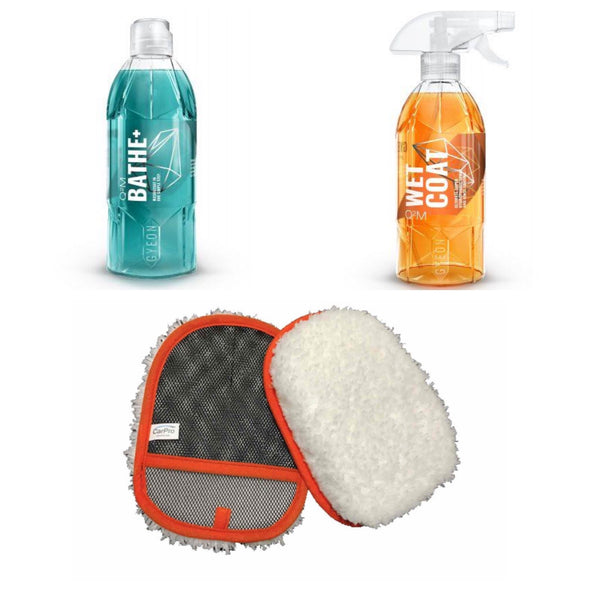 Gyeon Wet Coat & Bathe+ and Wash Mitt Kit - Detailing Connect