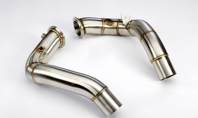 "VRSF 3"" Stainless Steel Catless Downpipes S63 11+ BMW M5 & M6 - Detailing Connect"