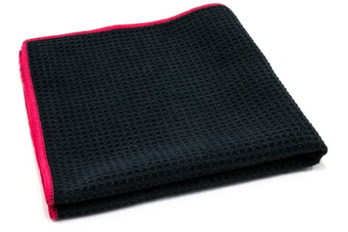 Waffle-Weave Window and Glass Microfiber Cleaning Towel 400 gsm, 16 in. x 16 in. - Detailing Connect