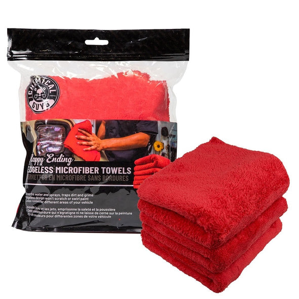 Happy Ending Towel 3 Pack Red - Detailing Connect