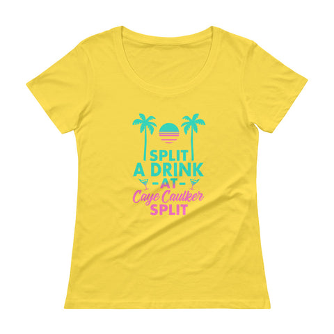 Celebrate Belize with a Drink at the Caye Caulker Split: Ladies' Scoopneck T-Shirt