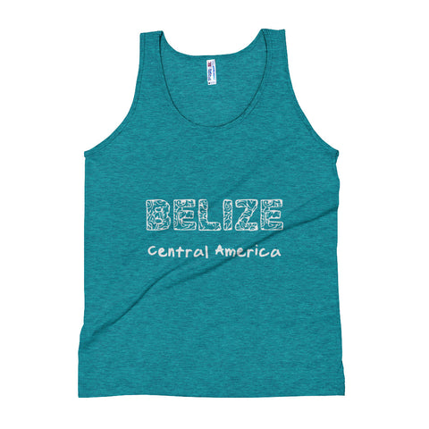 Belize, Central America with a Mayan Flair Unisex Tank Top