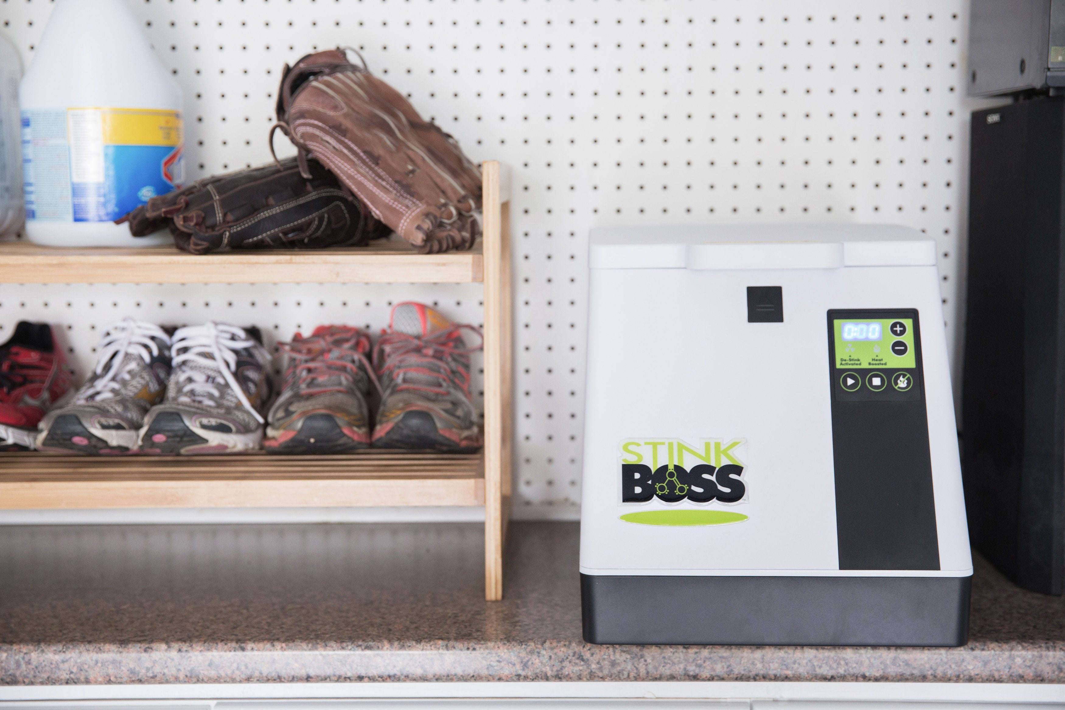 Easily Store the StinkBOSS® Athletic Gear and Shoe Deodorizer Machine