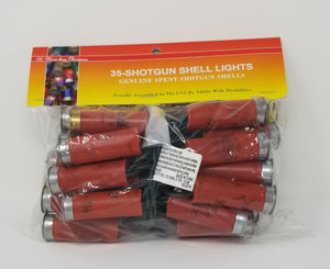 Light Set - Shotgun Shell Light String - 35 Lights - Red