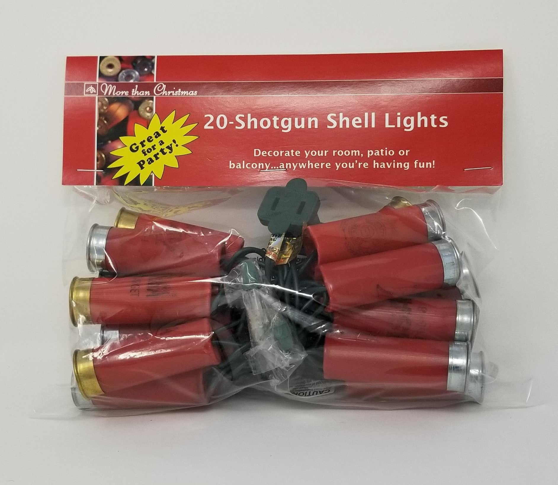 Light Set - Shotgun Shell Light String - 20 Lights - Red